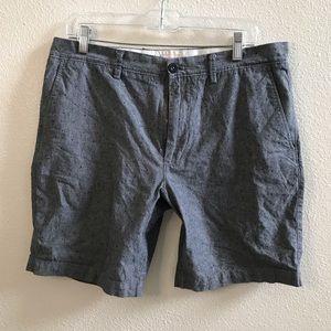 JCREW men's gray flat front chino shorts 33